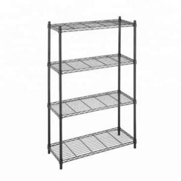 Wholesale Custom Adjustable Indoor Heavy Duty Steel Metal Wire Shelving With Wheels