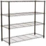 Adjustable Rolling Wire Rack Shelving with Wheels Metal Heavy Duty Storage Racks