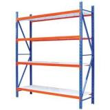 Well Space Utilization Customized Q235 Industrial shelves For Warehouse Storage