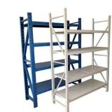 Light storage rack metal storage shelf with Z beam rivet shelving