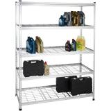 Wire Grid Panel Rack Movable Snack Wire FSDU Shelves Unit Snack Wire Rack Shelving with Wheels Mesh Sign Holder